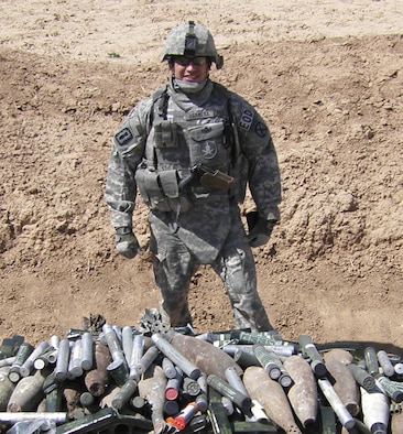 Tech. Sgt. Manuel Herrera, an explosive ordnance disposal craftsman with the 375th Civil