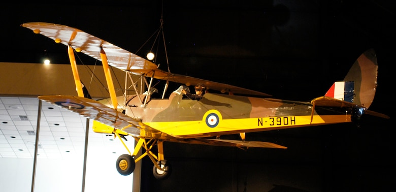DAYTON, Ohio -- De Havilland DH 82A Tiger Moth in the Early Years Gallery at the National Museum of the United States Air Force. (U.S. Air Force photo)