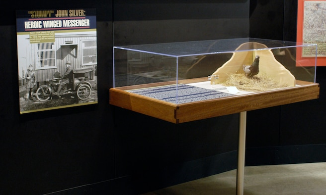 """DAYTON, Ohio -- """"Stumpy"""" John Silver exhibit in the Early Years Gallery at the National Museum of the United States Air Force. (U.S. Air Force photo)"""