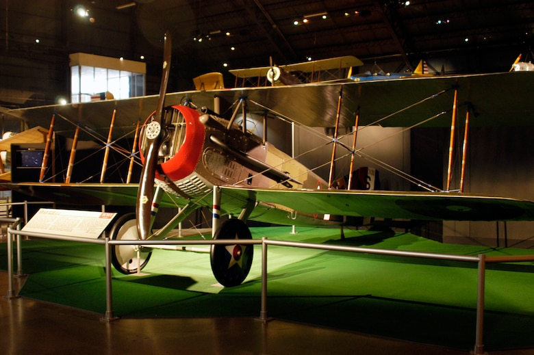DAYTON, Ohio -- SPAD XIII in the Early Years Gallery at the National Museum of the United States Air Force. (U.S. Air Force photo)