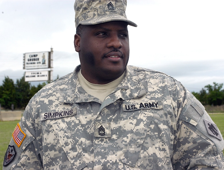 Sgt. 1st Class Eddie Simpkins, a Tinker employee and member of the Oklahoma Army National Guard who was on board a C-130 when it crashed last year in Iraq. (Army photo)