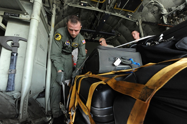 Staff Sgt. Zac Nagy, a loadmaster assigned to the 48th Airlift Squadron,