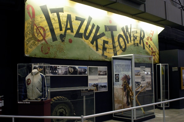 DAYTON, Ohio -- Itazuke Tower sign in the Korean War Gallery at the National Museum of the U.S. Air Force. (U.S. Air Force photo)