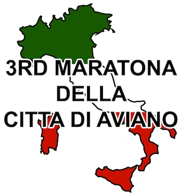 This is the official artwork for the 3rd Annual Aviano Marathon, also known as the 3rd Maratona Della Citta Di Aviano, being held Sept. 13, 2009.  (Courtesy artwork)