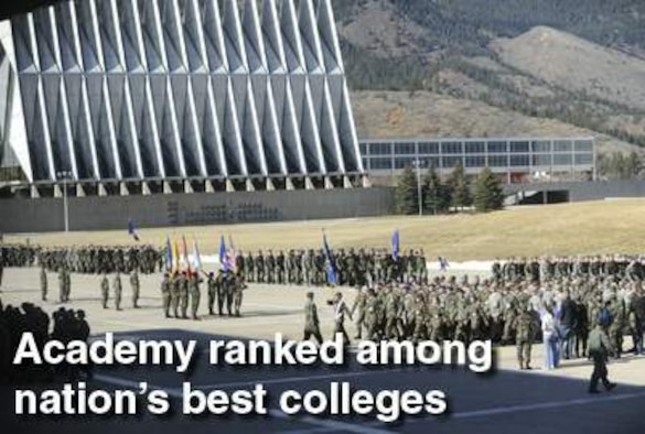 The U.S. Air Force Academy's professors are among the most accessible in the nation, according to The Best 371 Colleges guide released by Princeton Review July 28. (U.S. Air Force photo illustration)