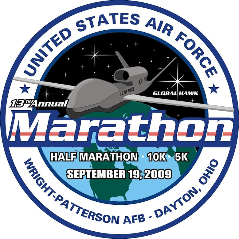 The 13th Annual Air Force Marathon is set for Sept. 19 at Wright-Patterson Air Force Base, Ohio.  (U.S. Air Force graphic)