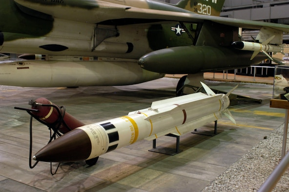 DAYTON, Ohio - AGM-78 Standard ARM (Antiradiation Missile) on display in the First In, Last Out: Wild Weasels vs. SAMs in the Southeast Asia War Gallery at the National Museum of the U.S. Air Force. (U.S. Air Force photo)