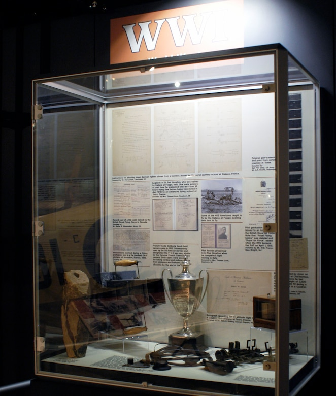 DAYTON, Ohio -- A portion of the World War I Training exhibit in the Early Years Gallery at the National Museum of the United States Air Force. (U.S. Air Force photo)