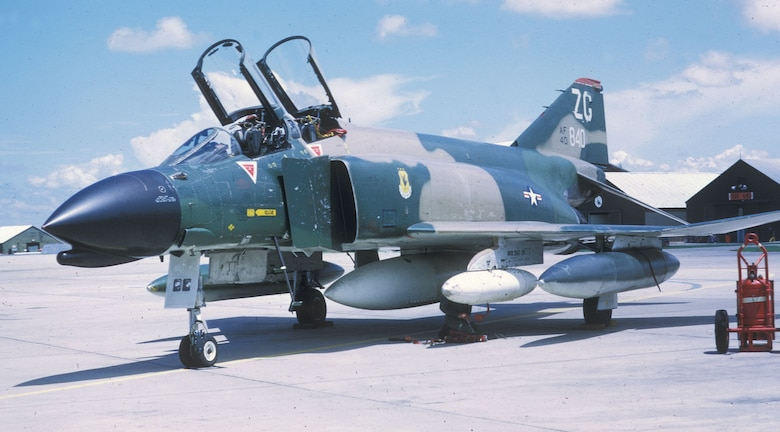 F-4C Wild Weasel arriving at Korat in September 1972. (U.S. Air Force photo)