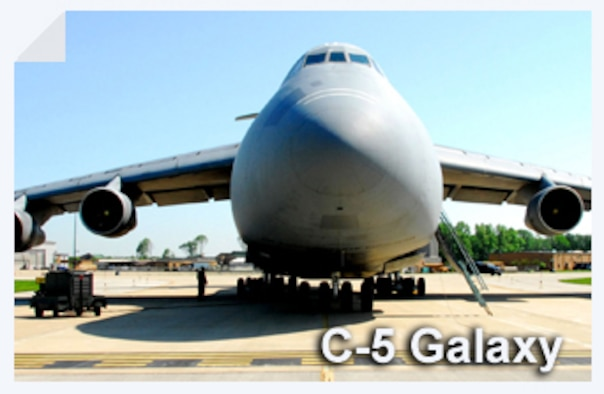 The C-5 Galaxy is one of the largest aircraft in the world. This workhorse is part of a modernization program to extend the life of the aircraft into the 21st century. (U.S. Air Force illustration)