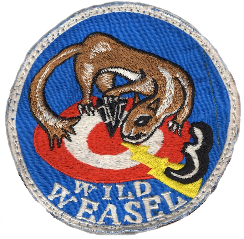 A weasel, nicknamed Willie, figures prominently in many official and unofficial Wild Weasel patches and logos. (U.S. Air Force)