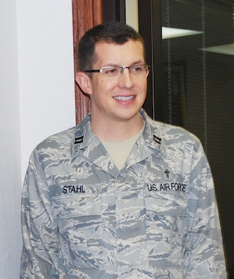 Chaplain, Capt. Kelly Stahl, said goodbye last month as he heads to an active duty assignment at Holloman AFB, New Mexico.  Chaplain Stahl has been with the 507th since 2006.