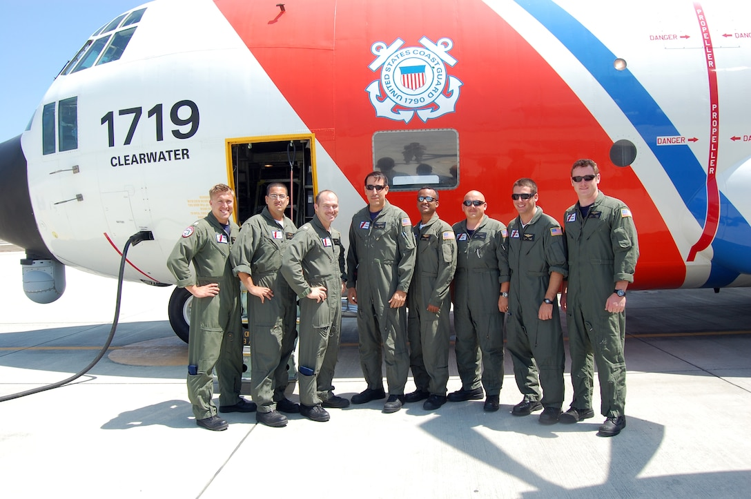 A U.S. Coast Guard C-130 crew deployed to FOL Manta, Ecuador, from Air Station Clearwater, Fla., aided the rescue of four local fishermen adrift in the eastern Pacific Ocean June 2. The fishermen were stranded at sea for 18 days, five days of which were without food and one without water. (U.S. Air Force photo by 1st Lt. Beth Woodward)