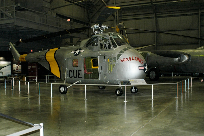 DAYTON, Ohio -- Sikorsky UH-19B Chickasaw in the Korean War Gallery at the National Museum of the United States Air Force. (U.S. Air Force photo)