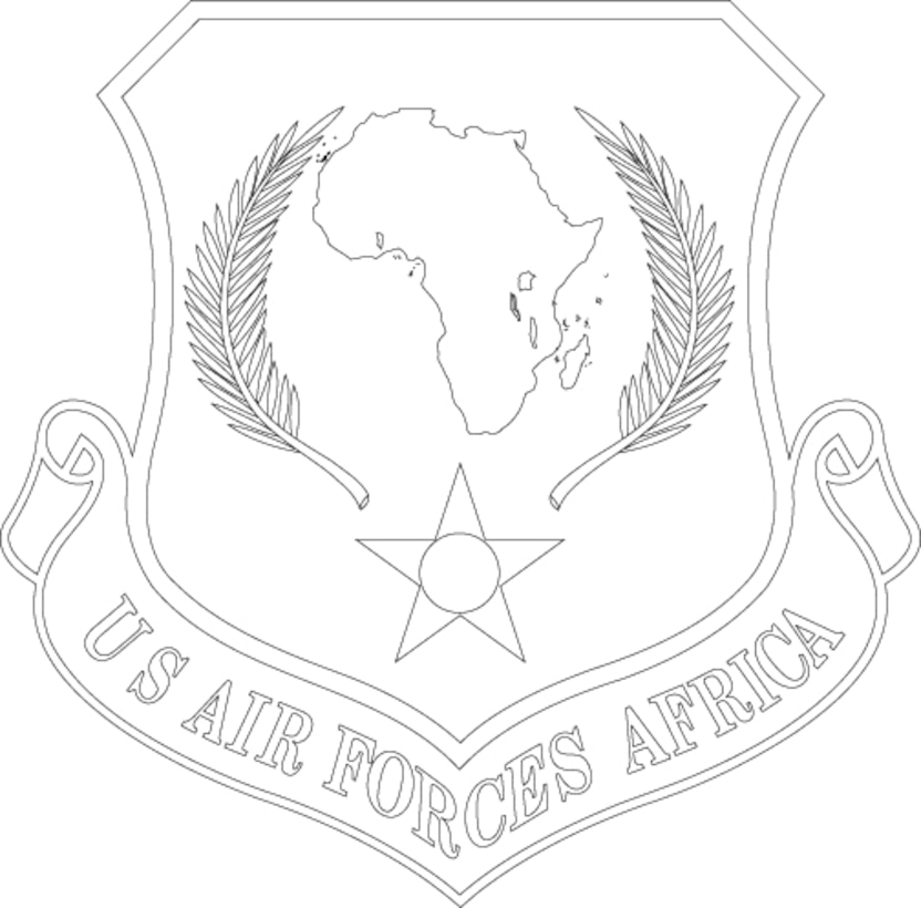 Air Forces Africa Shield (Black)