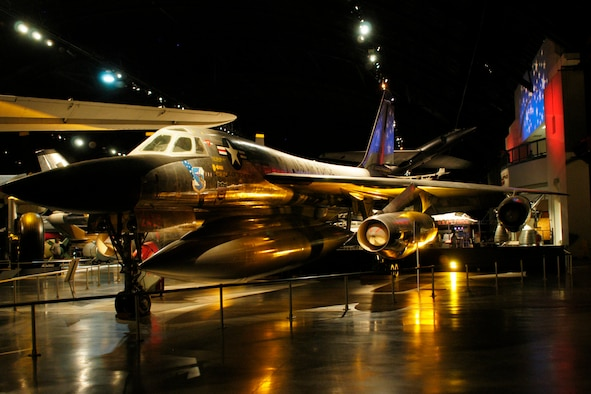 DAYTON, Ohio -- Convair B-58 Hustler in the Cold War Gallery at the National Museum of the United States Air Force. (U.S. Air Force photo)