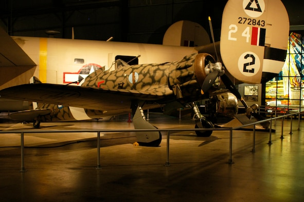 DAYTON, Ohio -- Macchi MC.200 Saetta in the World War II Gallery at the National Museum of the United States Air Force. (U.S. Air Force photo)