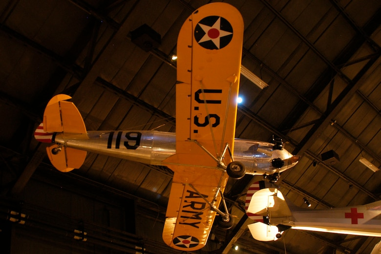 DAYTON, Ohio -- Ryan PT-22 Recruit in the World War II Gallery at the National Museum of the United States Air Force. (U.S. Air Force photo)