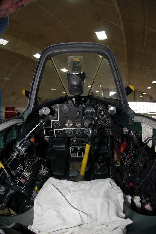 DAYTON, Ohio -- The Fisher P-75A cockpit at the National Museum of the U.S. Air Force. (U.S. Air Force photo)