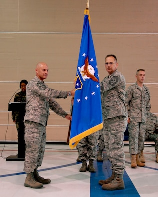 The reigns of authority were passed from Command Chief Master Sgt. Charles Aliff, 180th Fighter Wing, to Chief Master Sgt. Michael Haas, Operations Group Superintendent, June 13, 2009.