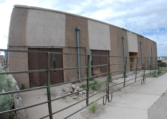 This building is the condemned dining facility at Saint Michael?s Association for Special Education, outside of Window Rock, Arizona. Engineers from the 240th Civil Engineer Squadron, Colorado Air National Guard, explored different ways to salvage the condemned strucutre.