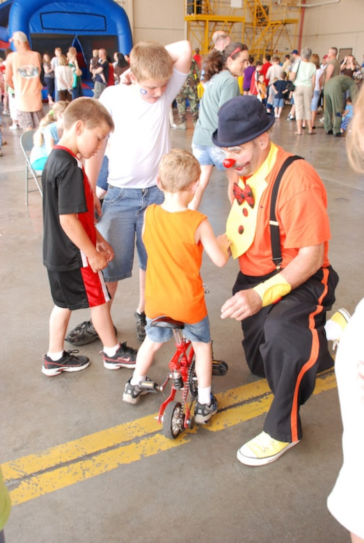 Family members of the 139th Airlift Wing participated in Family Day here June 7.