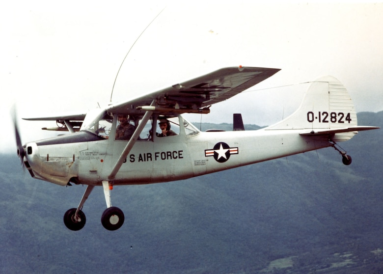 The limited ability of the Cessna O-1 Bird Dog to carry weapons convinced the Air Force to seek a replacement FAC aircraft. (U.S. Air Force photo)