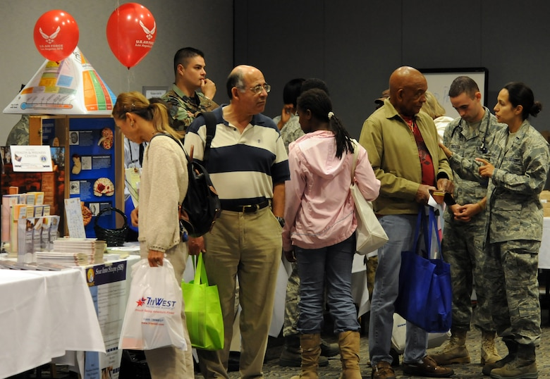 A retiree expo and appreciation day was held here, June 13.  Representatives from various agencies were on hand to provide information and answer questions.  Col. Anita Latin, 61st Air base Wing commander, and State Assemblyman Ted Lieu spoke at the event. (Photo by Atiba S. Copeland)