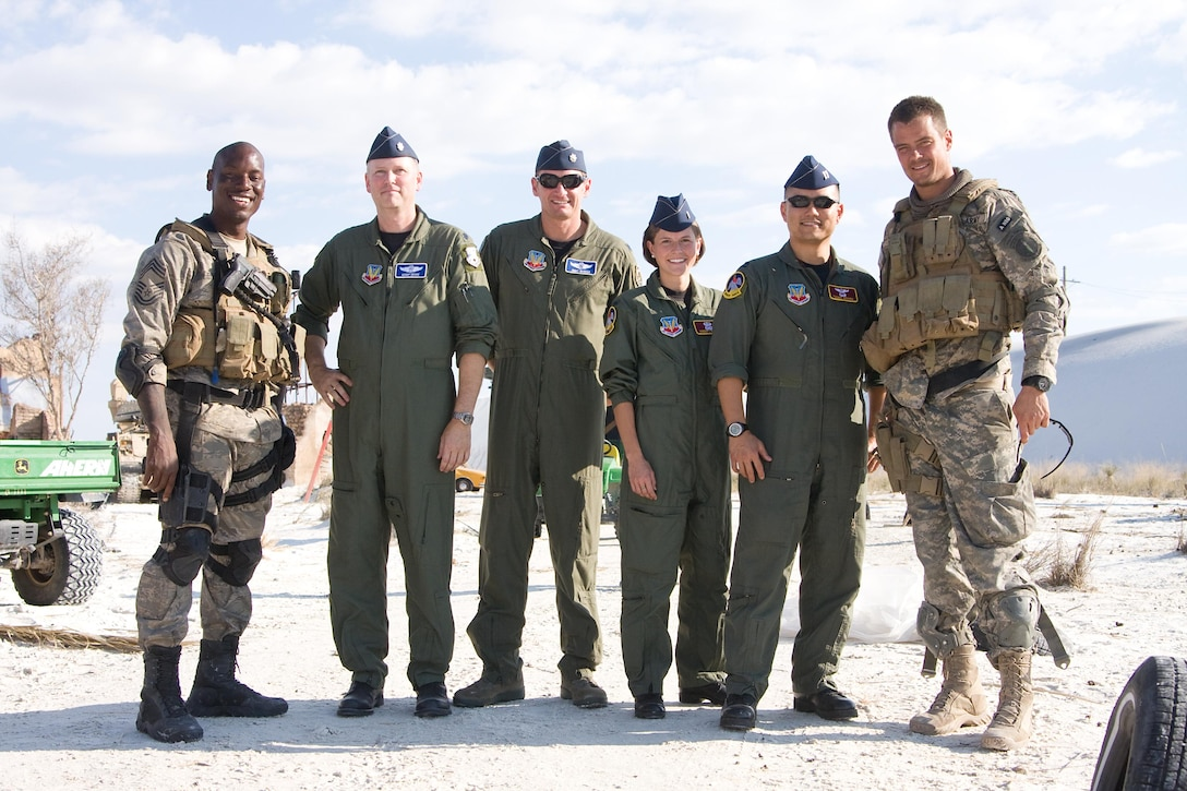 The 552nd Air Control Wing crew had the chance to tour part of the Transformers movie set and got a behind-the-scenes look at the filming process. (Copyright 2009 Paramount Pictures)