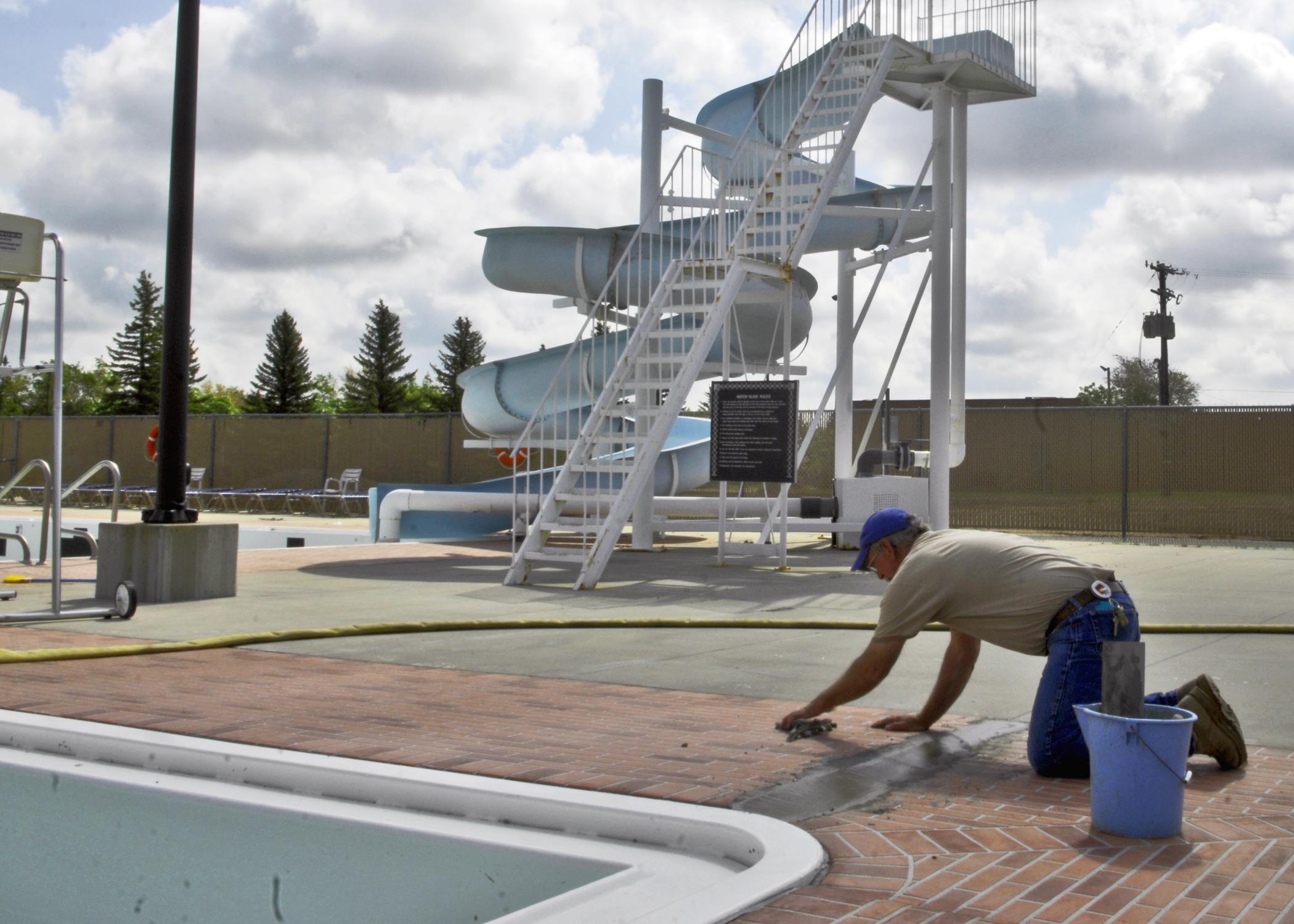 Indoor Pool Open As Outdoor Pool Undergoes Construction