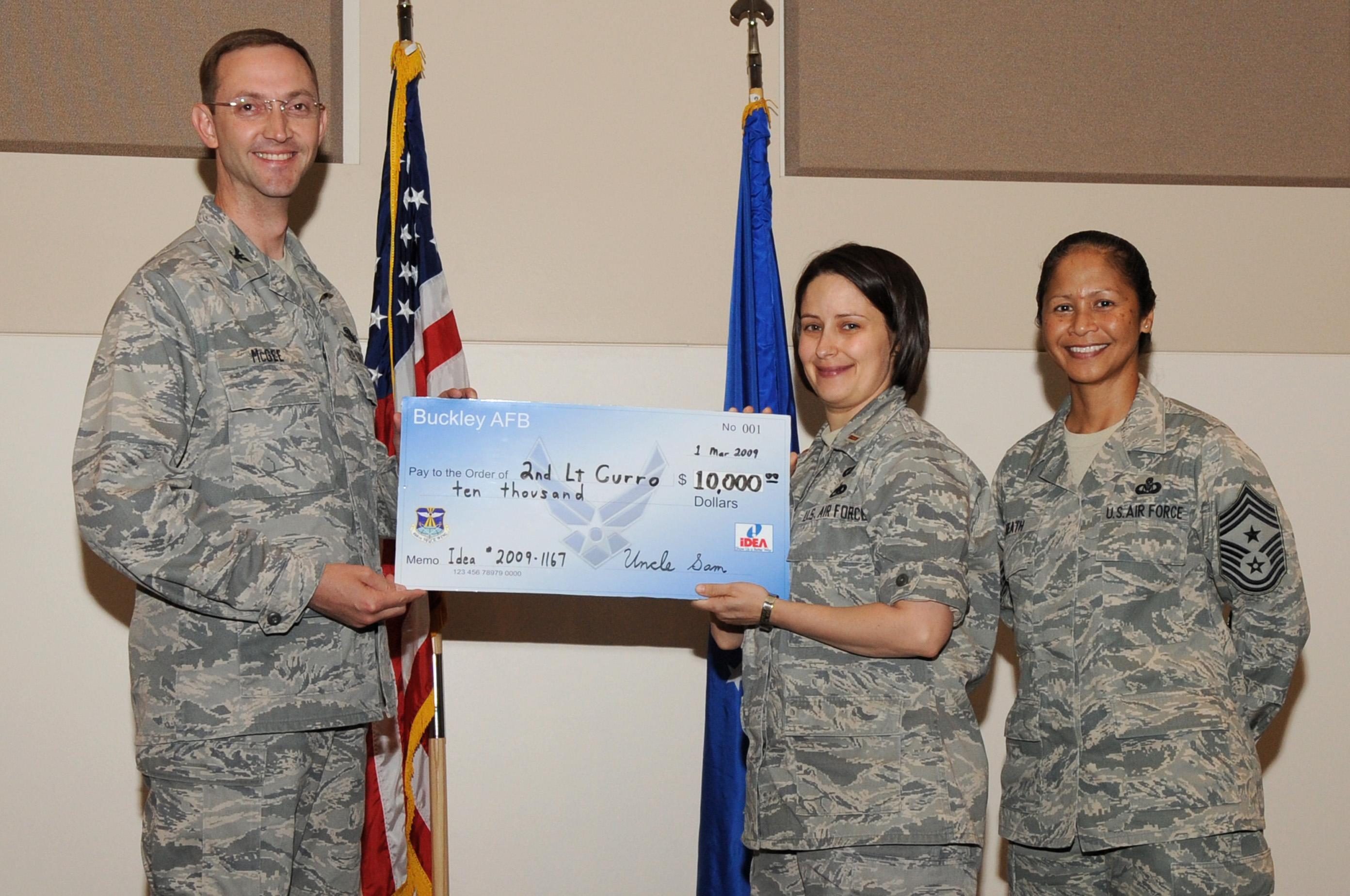 Military Pay Chart 2009: IDEA program rewards lieutenant $10000 e Buckley Air Force Base ,Chart