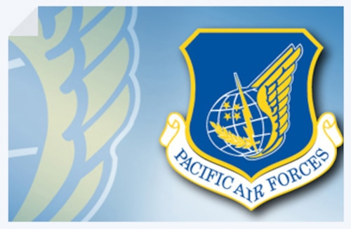 Pacific Air Forces shield; fact sheet graphic. (U.S. Air Force illustration)