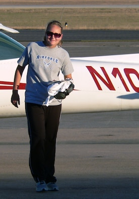 Amy Rogers attended the U.S. Air Force Academy Sports Camp recently in hopes of being appointed to the Academy's Class of 2015. Ms. Rogers, 16, has 30 flying hours in a Cessna 150. (U.S. Air Force photo)