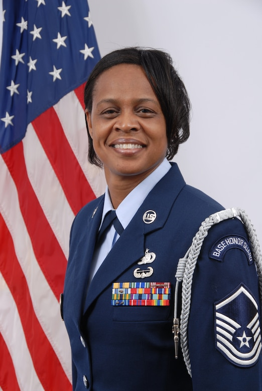 Master Sergeant Carrie Wade, Delaware Air National Guard Outstanding Honor Guard Member of the Year for 2008. Sgt. Wade is a material management craftsman, 166th Logistics Readiness Squadron and a resident of Aberdeen Proving Ground, Md. (U.S. Air Force photo/Staff Sgt. Melissa Chatham, Delaware Air National Guard)