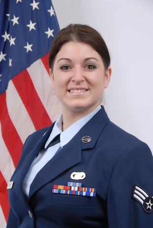 Senior Airman Jessica Burns, Delaware Air National Guard Airman of the Quarter, Second quarter FY 2008, January-March 2008. Airman Burns is a personnel journeyman, 166th Logistics Readiness Squadron, and a resident of Middletown, Del. (U.S. Air Force photo/Staff Sgt. Melissa Chatham, Delaware Air National Guard)
