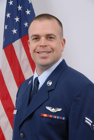 Senior Airman Mark Rutt, Delaware Air National Guard Outstanding Airman of the Year for 2008. Airman Rutt is a loadmaster, 142nd Airlift Squadron, and a resident of Newark, Del. (U.S. Air Force photo/Staff Sgt. Melissa Chatham, Delaware Air National Guard)