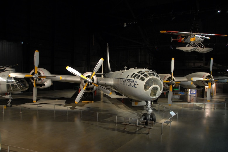 DAYTON, Ohio - The Boeing WB-50D Superfortress on display in the Cold War Gallery at the National Museum of the U.S. Air Force. (U.S. Air Force photo)