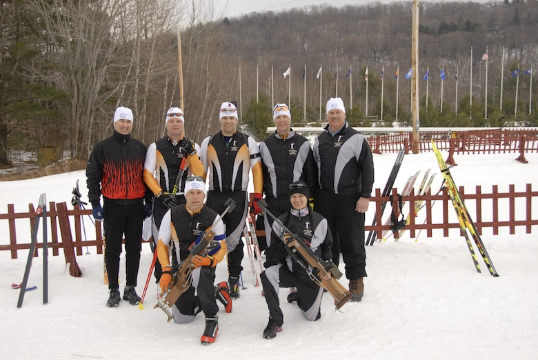 The Minnesota National Guard Biathlon Team won First Place Team Overall at the 2009 Chief National Guard Bureau Biathlon Championships at Ethan Allen Firing Range in Jericho, Vt., from March 1-7, 2009.  (US Air Force Photo)