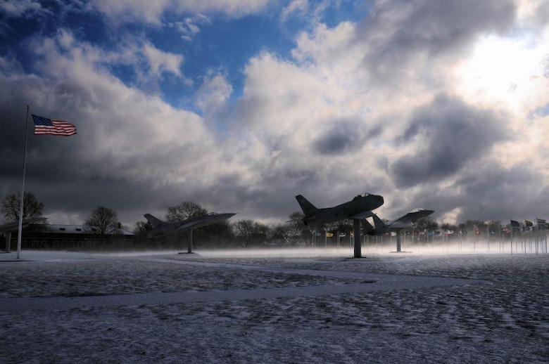 LANGLEY AIR FORCE BASE, Va.-- AirPower Park is seen covered with snow after