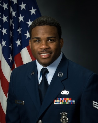 Senior Airman Brian K. Coleman, 42nd Air Base Wing, is the Air University Airman of the Year for 2008. (Air Force photo)