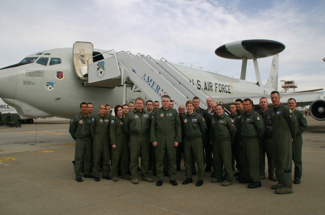 Mr. Dan Mahoney, Vice President of Public Relations & Community Relations for the Oklahoma City Thunder, had a chance to fly with the 960th Airborne Air Control Squadron as part of the COMMSTAR program March 25.