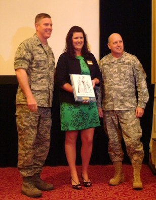Ms. Cynthia Connors from the 104 Family Readiness Group, was chosen for the Mass. Air National Guard Volunteer of the Year Award which was presented by Brig. Gen. Sellars and Col. Robert Brooks