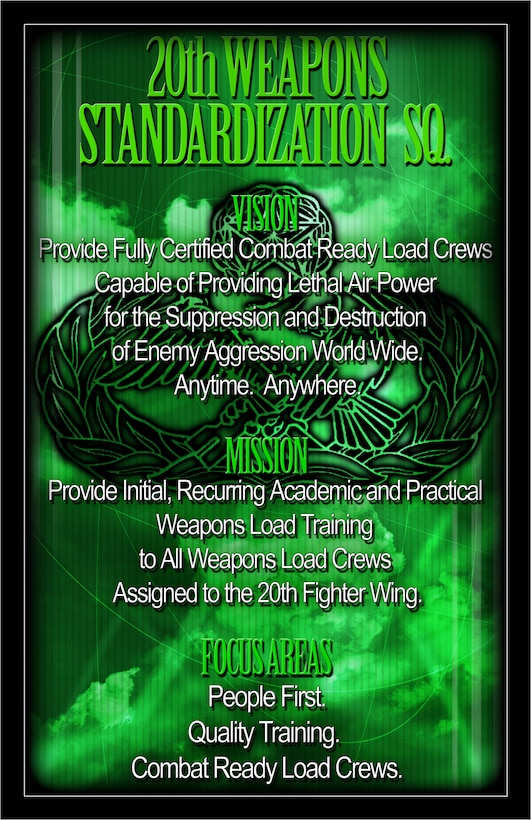 SHAW AIR FORCE BASE, S.C.-- Poster of the 20th WSS Mission Statement. (U.S. Air Force Illustration by SrA Katherine McDowell)