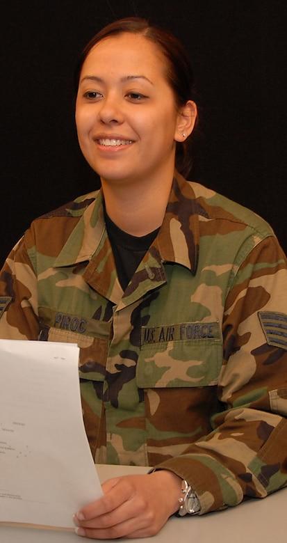 SSgt Dianne Pirog, 181st IW/PA, Broadcast Journalist