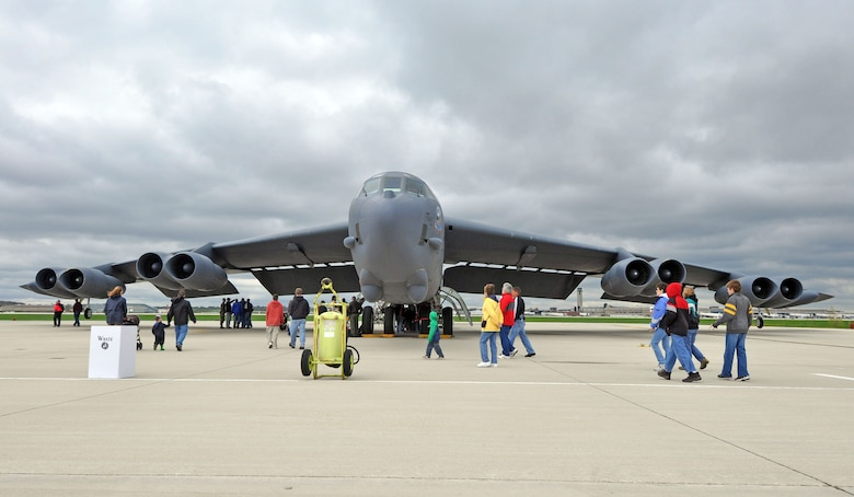 The 128th Air Refueling Wing hosts its annual military display Sat., May 9, 2009 at General Mitchell Air Field. Among the several aircraft present for the display is the B-52 Stratofortress, which continuously attracted crowds. (U.S. Air Force photo by Master Sgt. Kenneth Pagel)