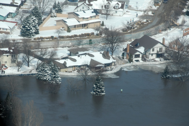 Arial footage of the Red River Valley in North Dakota during the 2009 flooding that occured during March and April.  Soldiers and Airmen of the North Dakota National Guard were activated to answer the call.  National Guard members remain on flood duty around the state.