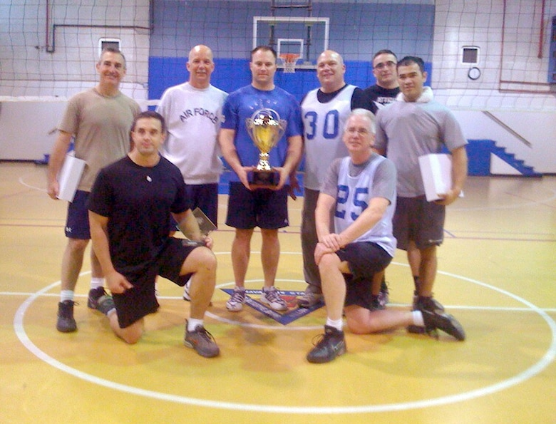 Members of the 111th Fighter Wing, Pa. Air National Guard, from Willow Grove Air Reserve Station became the 2009 Willow Grove Joint Reserve Base Volleyball Champions here Apr. 1.