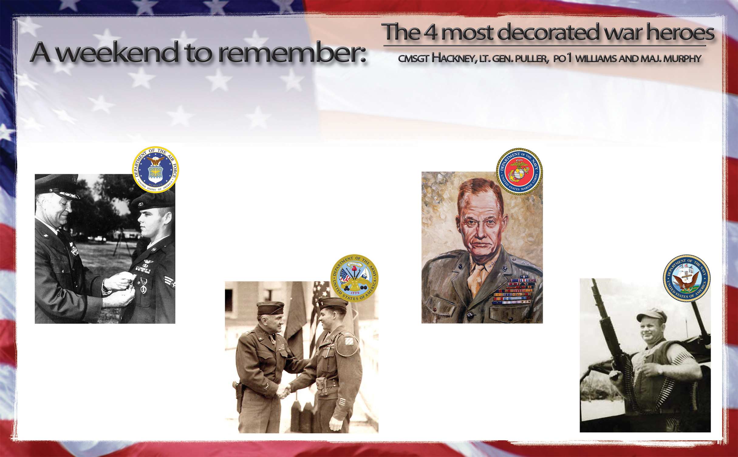 A Weekend To Remember The 4 Most Decorated War Heroes Dover Air
