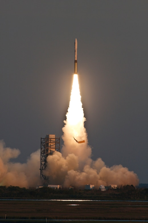This Air Force Minotaur I rocket launched the Air Force Research Laboratory's TacSat-3 satellite, NASA's PharmaSat microsatellite and NASA's CubeSat Technology Demonstration into a low earth orbit May 19.