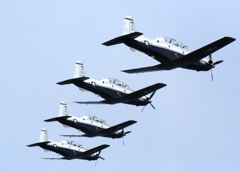 The T-6A Texan II is a single-engine, two-seat primary trainer designed to train Joint Primary Pilot Training, or JPPT, students in basic flying skills common to U.S. Air Force and Navy pilots.